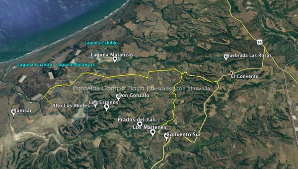 Google Earth El Convento - agua